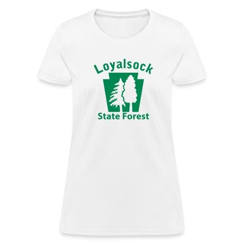 Loyalsock State Forest Keystone w/Trees - Women's T-Shirt