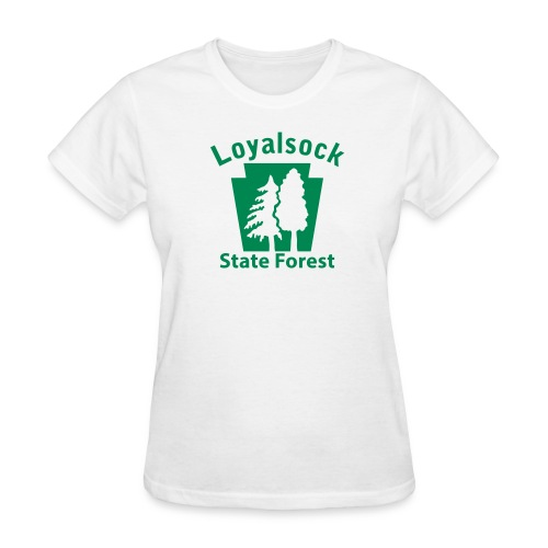 Loyalsock State Forest Keystone w/Trees - Women's T-Shirt