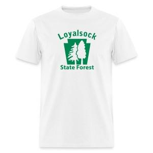 Loyalsock State Forest Keystone w/Trees - Men's T-Shirt