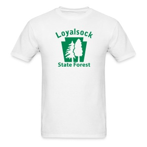 Loyalsock State Forest Keystone w/Trees - Men's T-Shirt