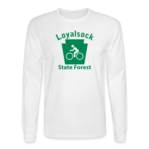Loyalsock State Forest Keystone Biker - Men's Long Sleeve T-Shirt