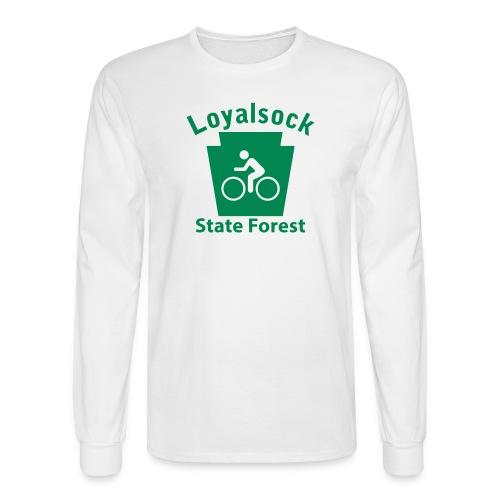 Loyalsock State Forest Keystone Biker - Men's Long Sleeve T-Shirt