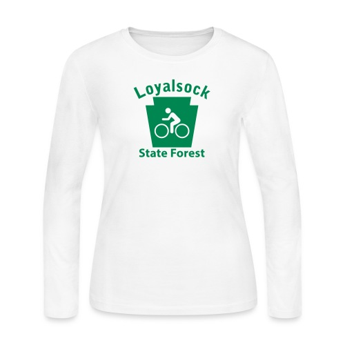 Loyalsock State Forest Keystone Biker - Women's Long Sleeve Jersey T-Shirt