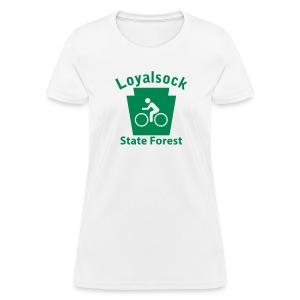 Loyalsock State Forest Keystone Biker - Women's T-Shirt