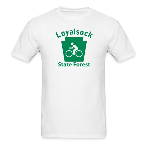 Loyalsock State Forest Keystone Biker - Men's T-Shirt