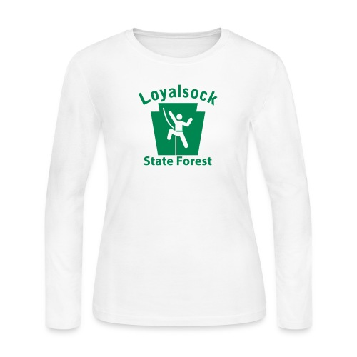 Loyalsock State Forest Keystone Climber - Women's Long Sleeve Jersey T-Shirt