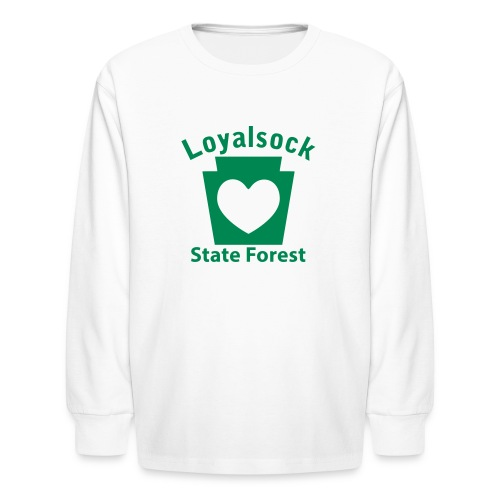 Loyalsock State Forest Keystone Heart - Kids' Long Sleeve T-Shirt