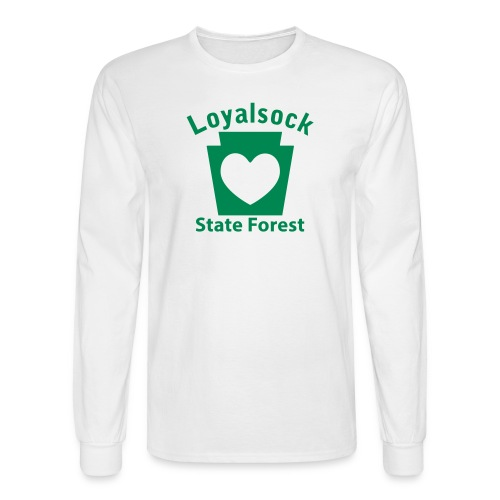 Loyalsock State Forest Keystone Heart - Men's Long Sleeve T-Shirt