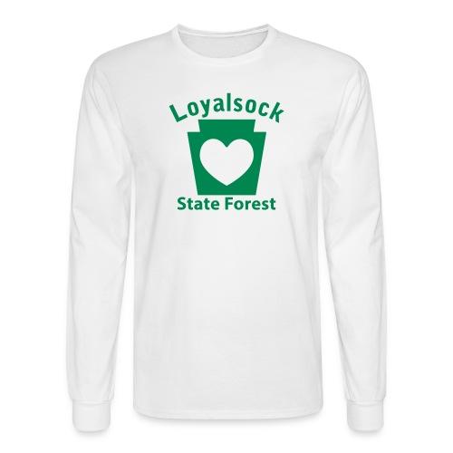 Loyalsock State Forest Keystone Heart - Men's Long Sleeve T-Shirt