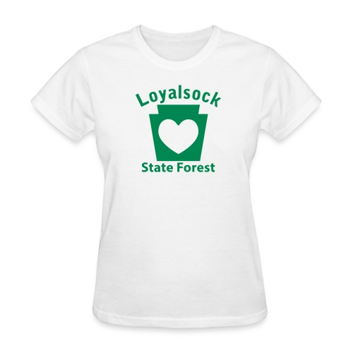 Loyalsock State Forest Keystone Heart - Women's T-Shirt