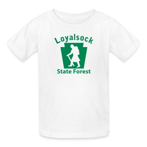 Loyalsock State Forest Keystone Hiker (female) - Kids' T-Shirt