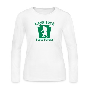 Loyalsock State Forest Keystone Hiker (female) - Women's Long Sleeve Jersey T-Shirt