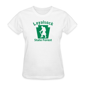 Loyalsock State Forest Keystone Hiker (female) - Women's T-Shirt