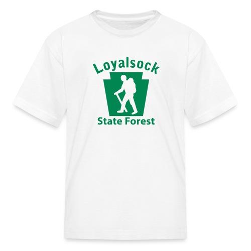 Loyalsock State Forest Keystone Hiker (male) - Kids' T-Shirt