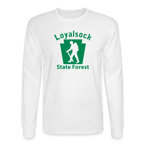 Loyalsock State Forest Keystone Hiker (male) - Men's Long Sleeve T-Shirt