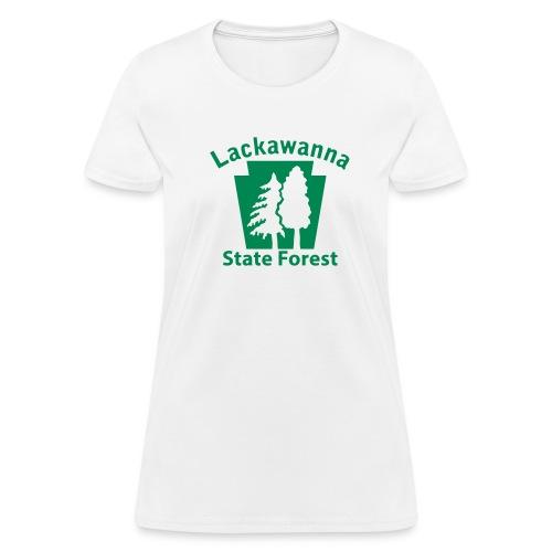 Lackawanna State Forest Keystone w/Trees - Women's T-Shirt