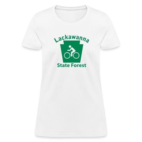 Lackawanna State Forest Keystone Biker - Women's T-Shirt