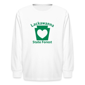 Lackawanna State Forest Keystone Heart - Kids' Long Sleeve T-Shirt