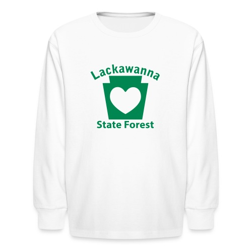 Lackawanna State Forest Keystone Heart - Kids' Long Sleeve T-Shirt