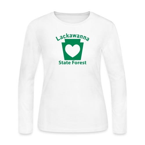 Lackawanna State Forest Keystone Heart - Women's Long Sleeve Jersey T-Shirt