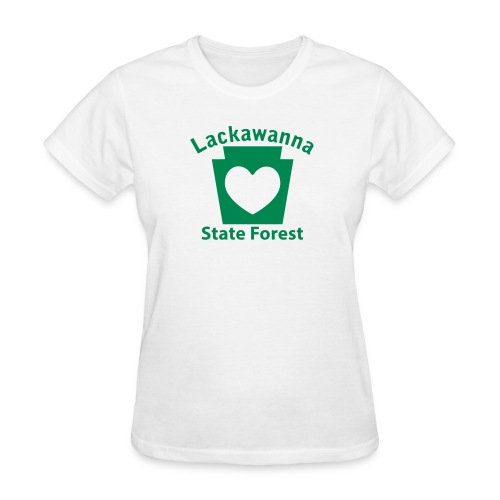Lackawanna State Forest Keystone Heart - Women's T-Shirt