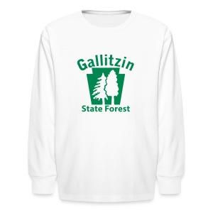 Gallitzin State Forest Keystone w/Trees - Kids' Long Sleeve T-Shirt