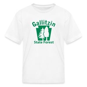 Gallitzin State Forest Keystone w/Trees - Kids' T-Shirt