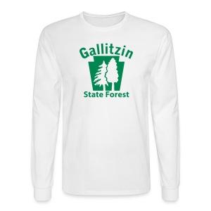 Gallitzin State Forest Keystone w/Trees - Men's Long Sleeve T-Shirt