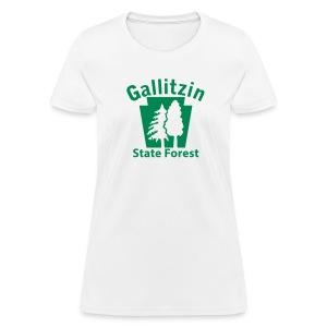 Gallitzin State Forest Keystone w/Trees - Women's T-Shirt