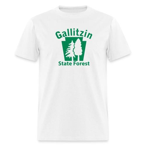 Gallitzin State Forest Keystone w/Trees - Men's T-Shirt