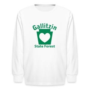 Gallitzin State Forest Keystone Heart - Kids' Long Sleeve T-Shirt
