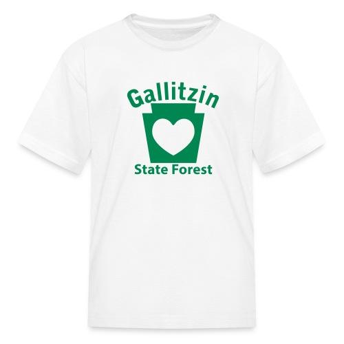 Gallitzin State Forest Keystone Heart - Kids' T-Shirt