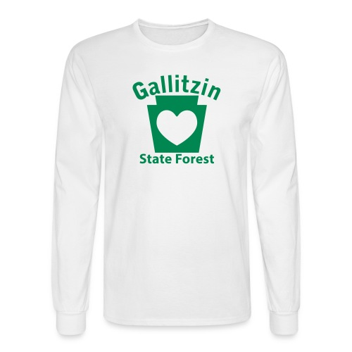 Gallitzin State Forest Keystone Heart - Men's Long Sleeve T-Shirt