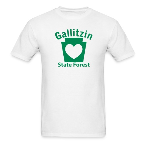 Gallitzin State Forest Keystone Heart - Men's T-Shirt