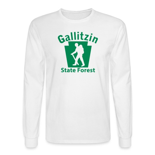 Gallitzin State Forest Keystone Hiker (male) - Men's Long Sleeve T-Shirt