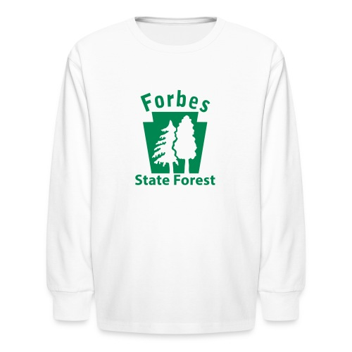 Forbes State Forest Keystone w/Trees - Kids' Long Sleeve T-Shirt