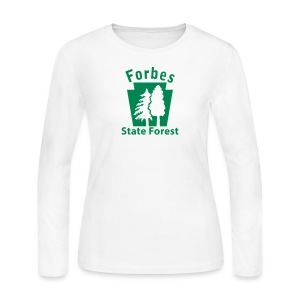 Forbes State Forest Keystone w/Trees - Women's Long Sleeve Jersey T-Shirt