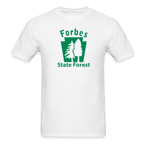 Forbes State Forest Keystone w/Trees - Men's T-Shirt