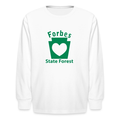 Forbes State Forest Keystone Heart - Kids' Long Sleeve T-Shirt