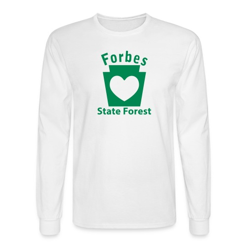 Forbes State Forest Keystone Heart - Men's Long Sleeve T-Shirt