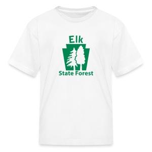 Elk State Forest Keystone w/Trees - Kids' T-Shirt