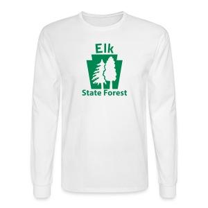 Elk State Forest Keystone w/Trees - Men's Long Sleeve T-Shirt