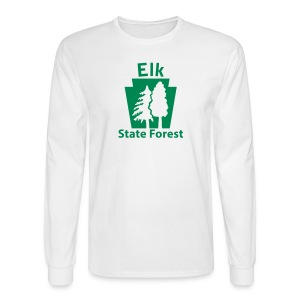 Elk State Forest Keystone w/Trees - Men's Long Sleeve T-Shirt