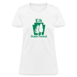 Elk State Forest Keystone w/Trees - Women's T-Shirt