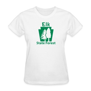 Elk State Forest Keystone w/Trees - Women's T-Shirt