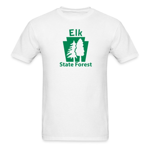 Elk State Forest Keystone w/Trees - Men's T-Shirt