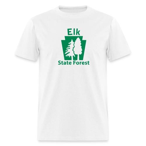 Elk State Forest Keystone w/Trees - Men's T-Shirt