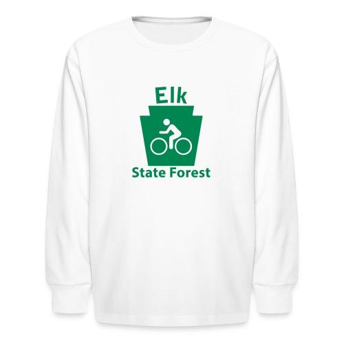 Elk State Forest Keystone Biker - Kids' Long Sleeve T-Shirt
