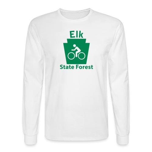 Elk State Forest Keystone Biker - Men's Long Sleeve T-Shirt