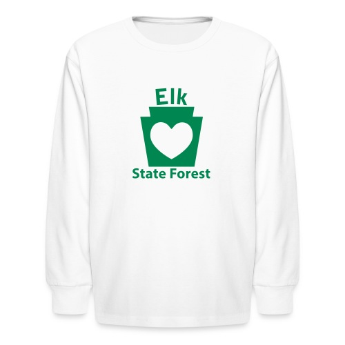 Elk State Forest Keystone Heart - Kids' Long Sleeve T-Shirt